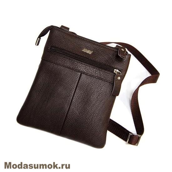 399c130fa0c2 Мужская сумка через плечо из натуральной кожи BB1 940082 коричневая ...